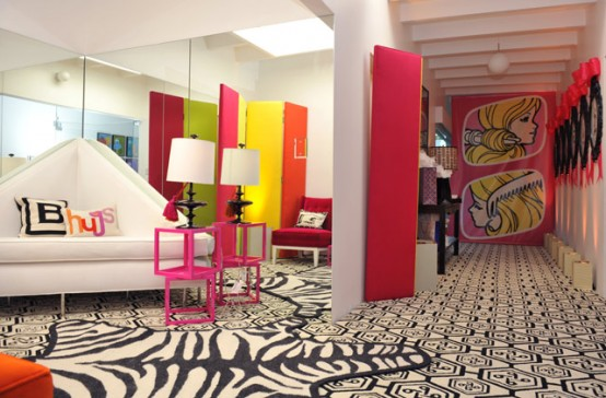 neon jonathan adler 3 barbie dream house
