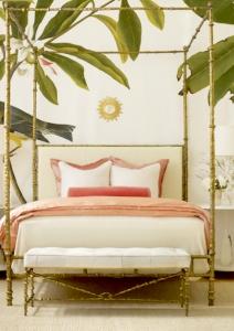 palm leaf bedroom