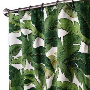 palm leaf curtain